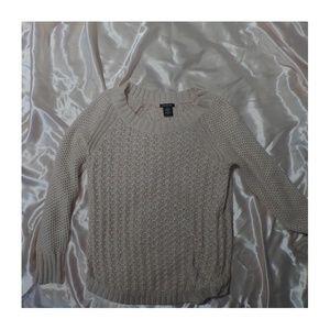 calvin klein pink crew neck sweater